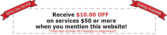 $10.00 OFF coupon Mr Muffler auto repair service westland