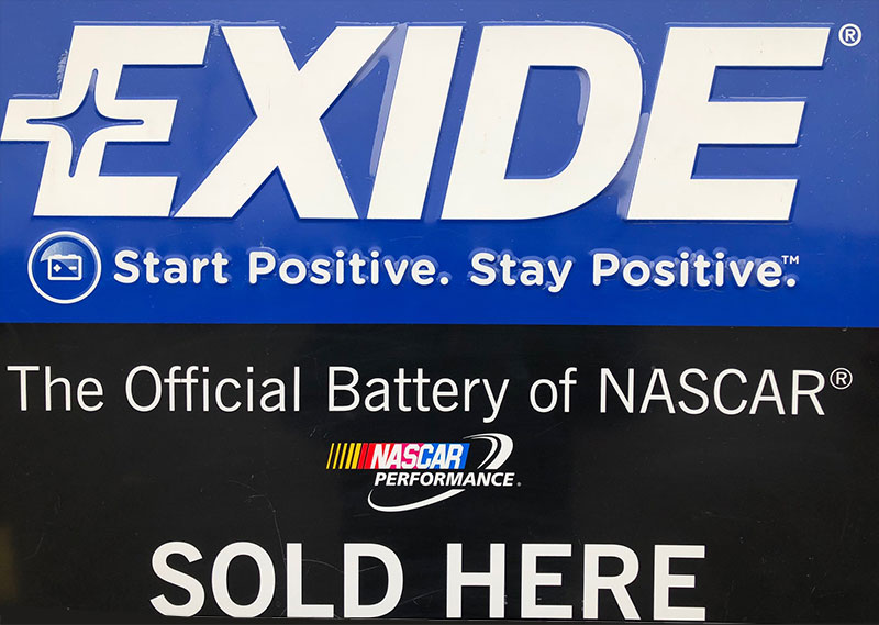 Exide Batteries Sold Here