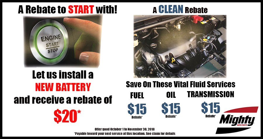 Mighty Auto Parts Rebates