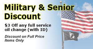 Military & Senior Discount